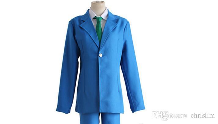 애니메이션 형사 코난 / 형형색색의 코스프레 코난 코스튬 / 지미 쿠도 / Kudou Shinich 일본 학생복 유니폼 + 셔츠 + 바지 + 세트 세트