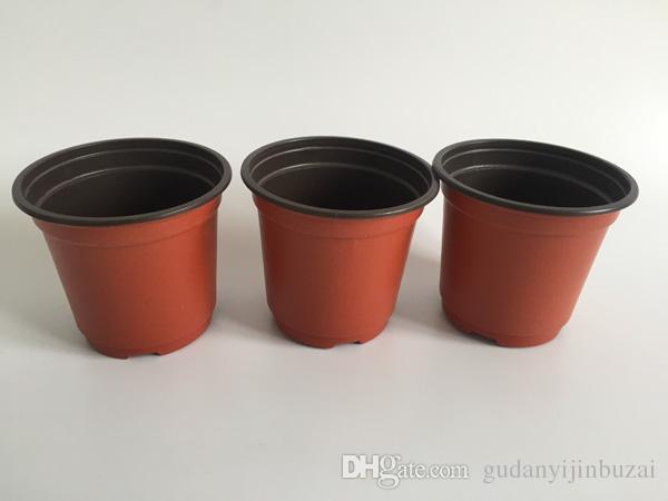 D10XH9CM double color plastic pots caliber corrosion resistance postoral plastic flower pots plastic Garden Pots