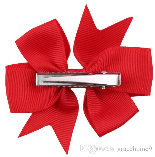 New Coxeer /Pack Ribbon Bow Hair Clip Pure Color Hairpin Hair Accessories For Baby Girls Kids Teens Toddlers Children