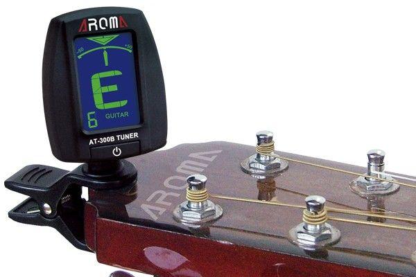 Aroma AT-300B Chitarra elettrica Chromatic Gutiar Bass guitarra parti LED Digital 360 gradi Clip Guitar Tuner Accessori strumenti musicali