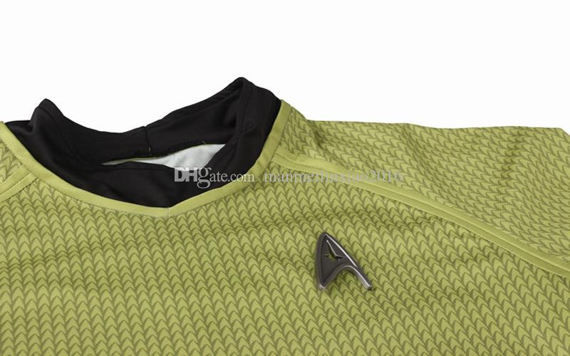 New Arrival Hot Movie COS Star Trek Into Darkness Fleet Capt Kirk Cosplay Costume Halloween Customized Shirt