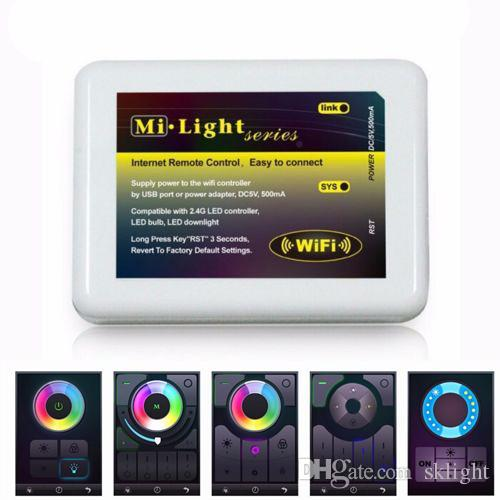 Dimmable MiLight Wireless Wifi LED RF Remote Controller APP iOS Android for  RGBW/RGB W/WW Single Color led Lamp Bulb Strip light