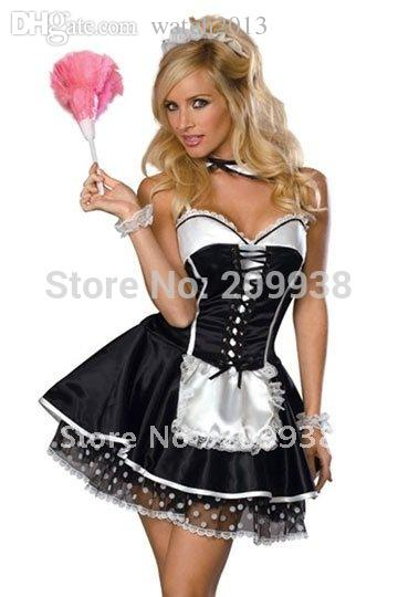 Wholesale Hot French Maid Cosplay Womenu0027S Bartender Dress Maid Anime Costume Halloween Costumes For Women Diy Cosplay Costumes Anime Suits From Watch2013 ...  sc 1 st  DHgate.com & Wholesale Hot French Maid Cosplay Womenu0027S Bartender Dress Maid Anime ...