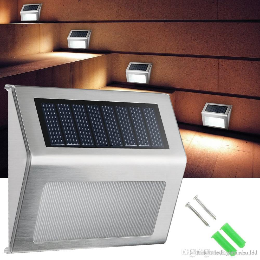 Best Solar Wall Lamps Led Step Lights Energy Saving Outdoor