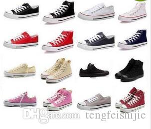Toptan Satış - ayakkabı Marka Yeni Unisex Düşük Stil Yetişkin Women039; s Erkek Kanvas Ayakkabılar Bağcıklı Up Casual Ayakkabı Sneaker 13 Renk Drop Shipping Top