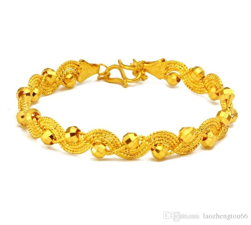 New Design 999 24k Yellow Gold Bracelet/Best Women\'S Elegant ...
