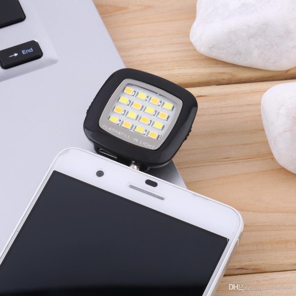 Mini luz instantânea portátil de Selfie da introdução do diodo emissor de luz da câmera para a promoção do telemóvel a mais nova