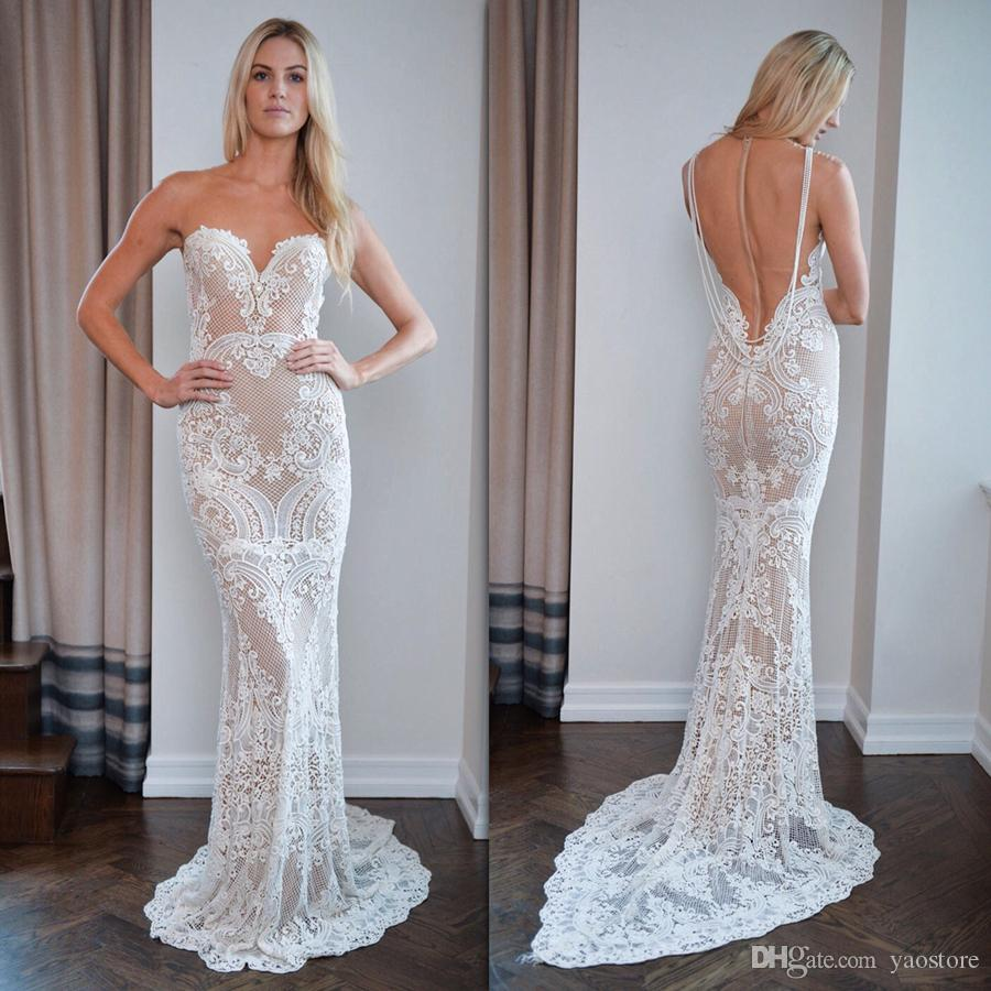 Stunning Berta 2017 Wedding Dresses Mermaid Appliques Guipure Lace ...