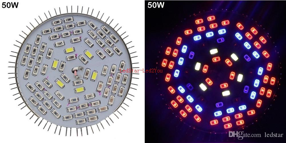 30W 50W 80W E27 PAR20 PAR30 PAR38 spectre complet conduit grandir plante légère grandir lampe ampoule IR UV 5730 fleur culture système hydroponique