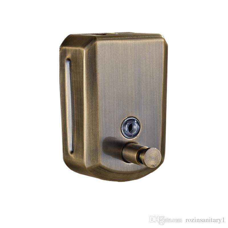 الحائط العتيقة البرونزية 800 ملليلتر سائل اليد الصابون موزع الفولاذ المقاوم للصدأ اكسسوارات الحمام مضخة المطهر مطبخ