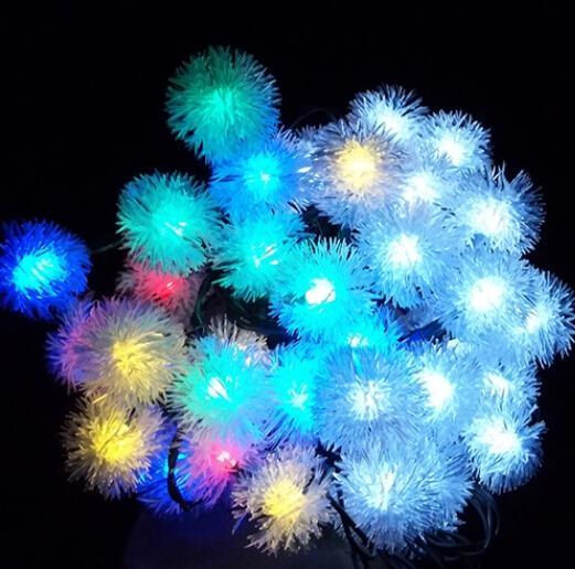 chuzzle ball led christmas tree light solar powered fairy string lights 20 rgb led globe lighting for outdoor gardens party orange led string lights lights - Solar Christmas Tree