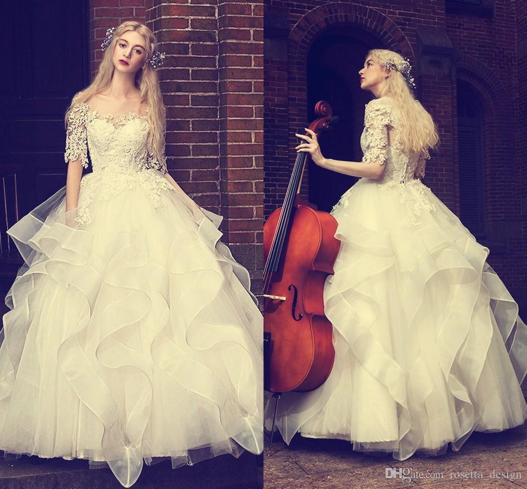 Excepcional Illusion Wedding Dresses Ilustración - Ideas de Vestidos ...