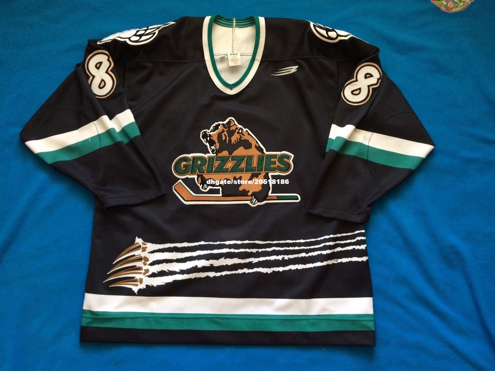 2019 Cheap Custom Utah Grizzlies Game Used Jerseys IHL Bauer Ultrafil Rare  Jeff Sharples Stitched Men S Hockey Jersey From Nfljersey1 145115810ce