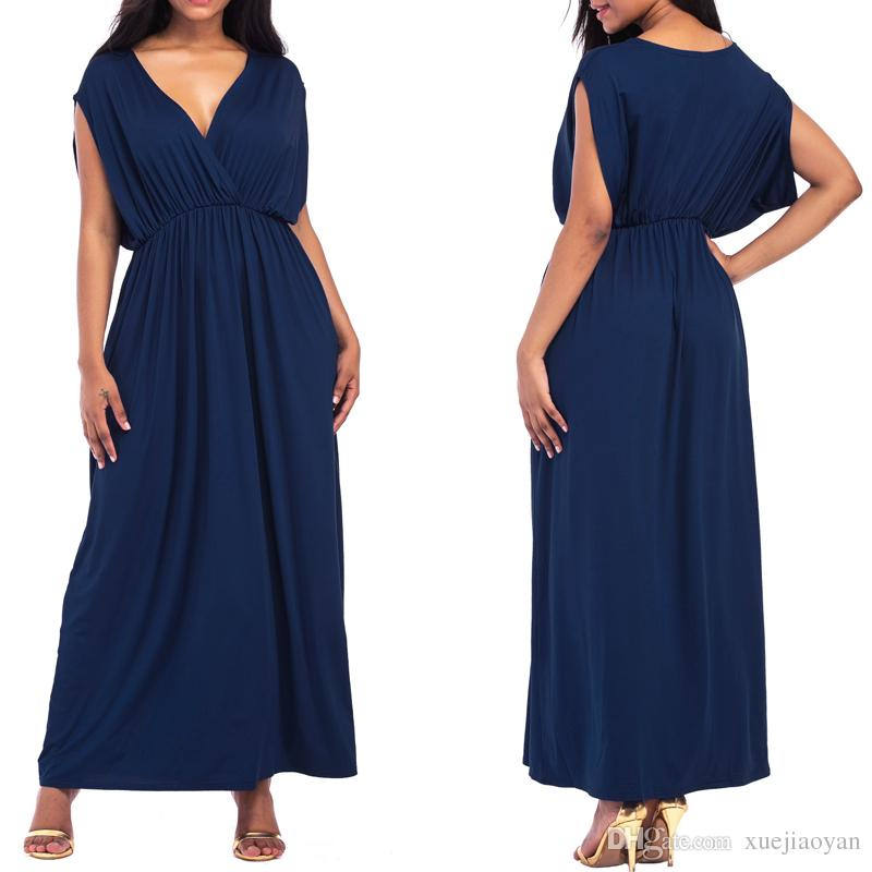 07f7599ee11b2 Wholesale Women's Summer Long Maxi Dresses Big Size for Fat Women New Design  2017 Beach Wear Clothes Casual Ladies Clothing Floor Length
