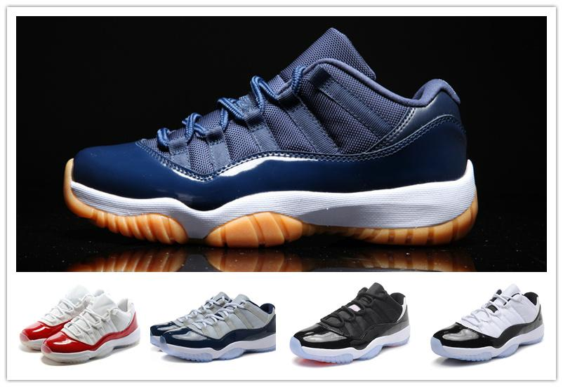 quality design 55d28 d8566 Classic 11 Varsity Red Low Bred White Gum Navy Blue Infrared 23 Georgetown  Concord XI Advanced Quality Version Sizes US5.5 13 Shoes Basketball Girls  ...