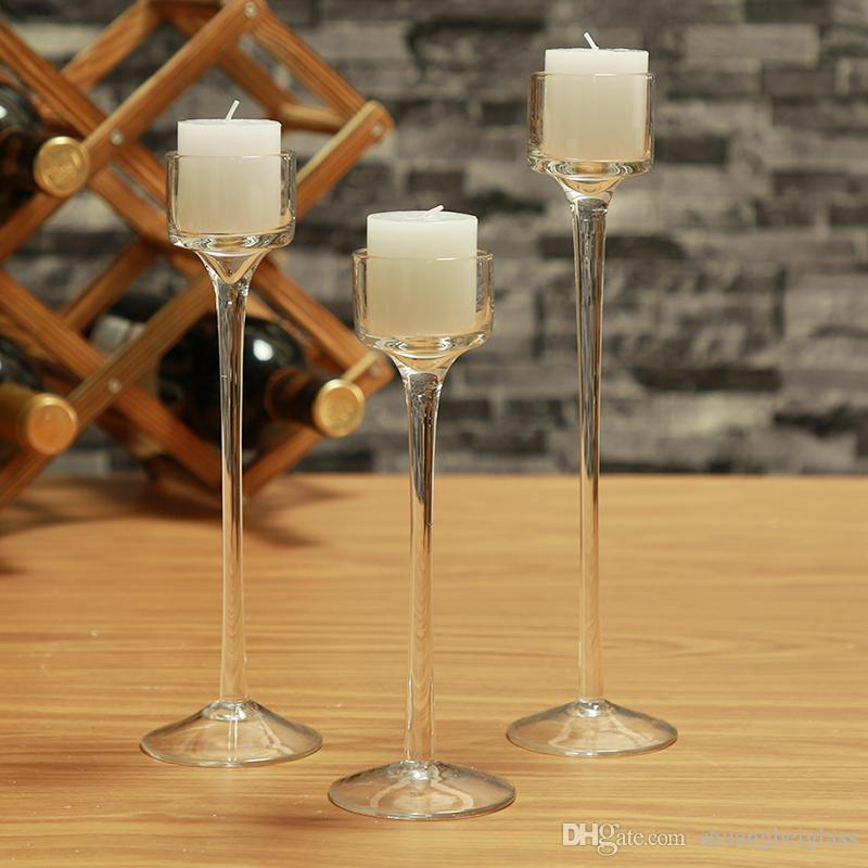 Small Glass Pray Candle Holder Set Decorative Wedding Candle holder Wedding Home Bar Party Decoration Ornaments