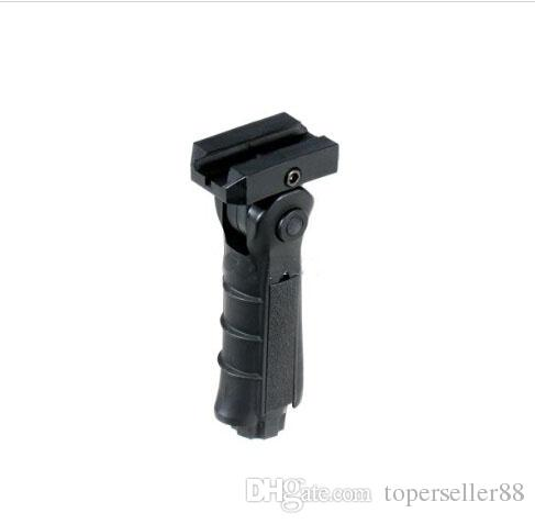Tactical 5 Position Folding Ergonomic Weaver-Picatinny Rail Front Grip Foregrip Con almacenamiento Cavidad