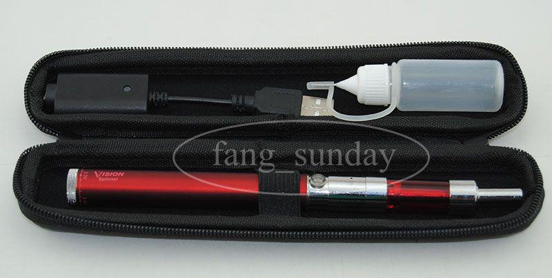 Vision I Spinne Vape Kit,1300 1100 900 650 mah V/V, Mini Pro tank 3, Skinny Carrying Case