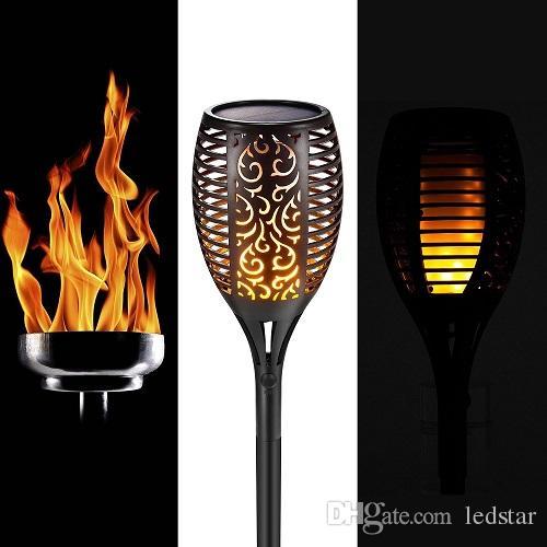 Fein Solar Garten Tiki Taschenlampe 96 Led Flackernder Pfad Tanzende Flammen Lichter Decken- & Wandleuchten