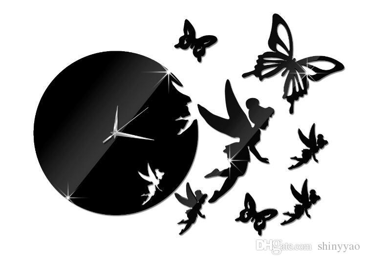 Fay espejo decorativo montado espejo diy wmirror pegatinas de pared espejo de acrílico DIY reloj etiqueta