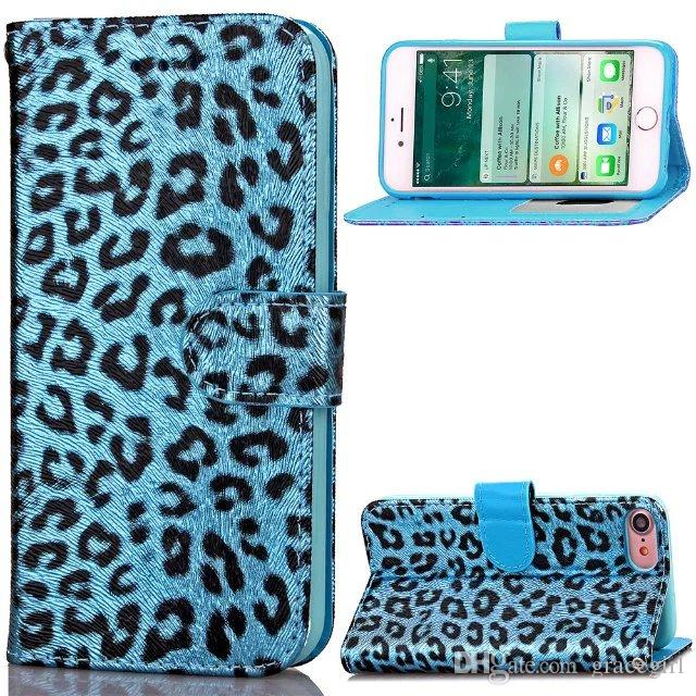 Luxury Leopard Flip Wallet Leather Pouch Case For Iphone X XS 8 7 Plus I7 Iphone7 7plus 6 6S Photo Frame ID Card Stand Cell Phone Skin Cover