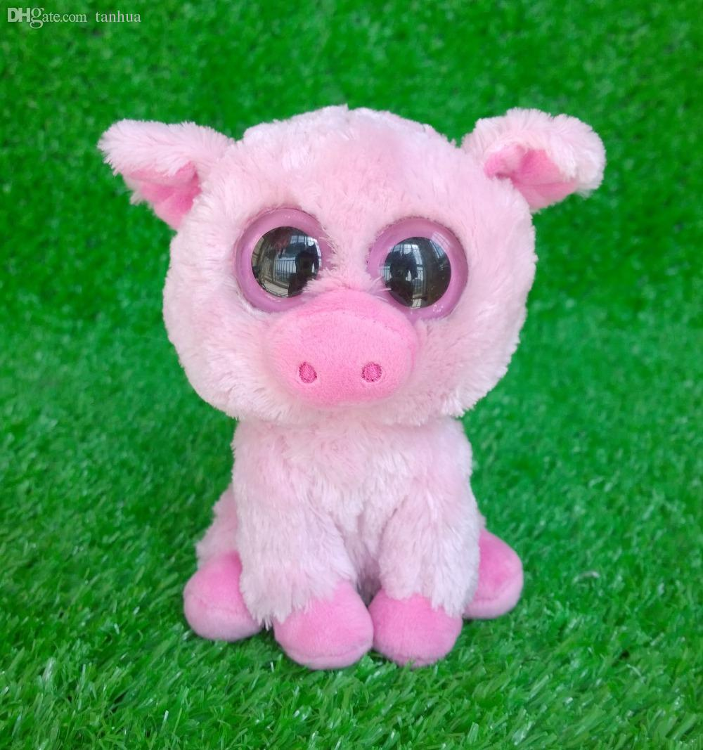559963642bd 2019 Wholesale Rare TY Beanie Boos Big Eyes Corky The Pig Plush Stuffed  Animal Cute From Tanhua