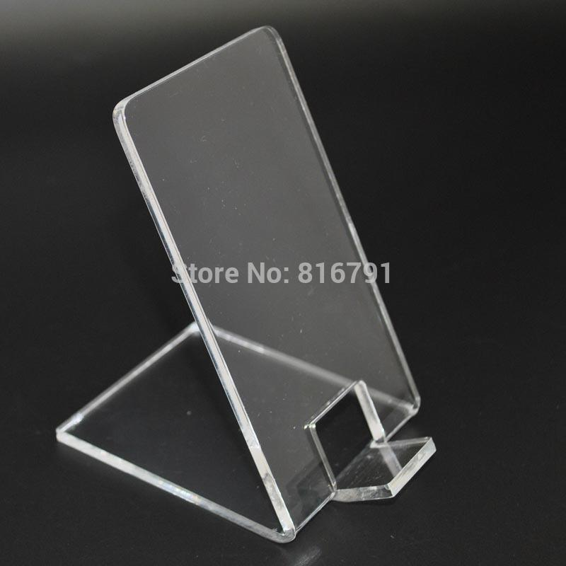 clear acrylic cell phone stands mobile phone display stands for iphone samsung huawei or any. Black Bedroom Furniture Sets. Home Design Ideas
