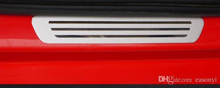 폭스 바겐 / Vw를 폴로 스테인레스 스틸 스커프 플레이트 문 창턱 지구에 오신 것을 환영합니다 페달 2009 2010 2011 2012 Vw를 폴로 자동차 액세서리