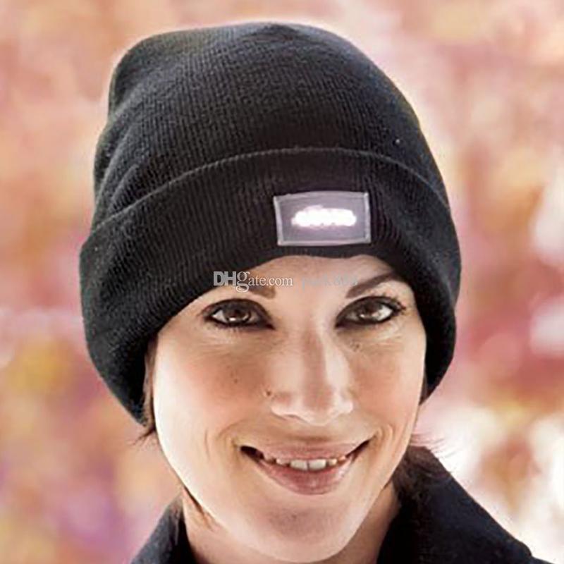 Hysteresenhüte LED Light Cap Beanie Hut mit 2 Batterien für die Jagd Camping Laufen Angeln Vintage Hüte