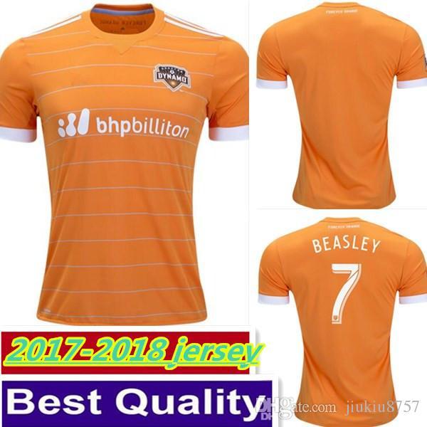 best loved 34cbb 1d375 Top Thai quality 17 18 Houston Dynamos home Orange soccer jersey 2017 2018  ELIS MANOTAS CLARK QUIOTO BEASLEY football shirts