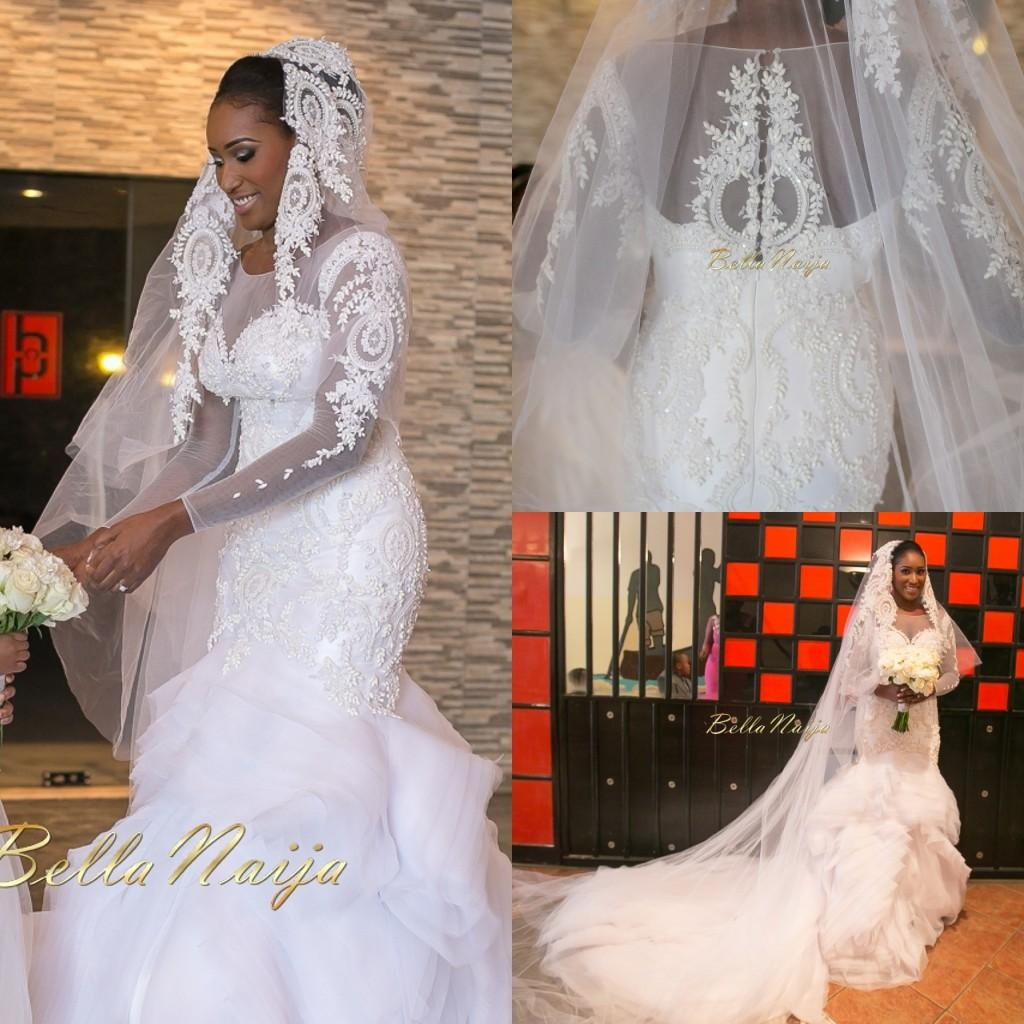 Amazing Bellanaija Nigerian Wedding Dresses Sheer Long Sleeves Major ...
