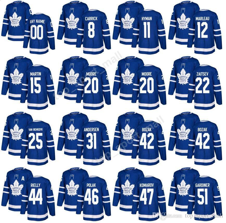 sports shoes 5d0e3 f27ba Toronto Maple Leafs Jerseys 2017 2018 Hockey 25 James van Riemsdyk 51 Jake  Gardiner 12 Patrick Marleau 31 Frederik Andersen 42 Tyler Bozak
