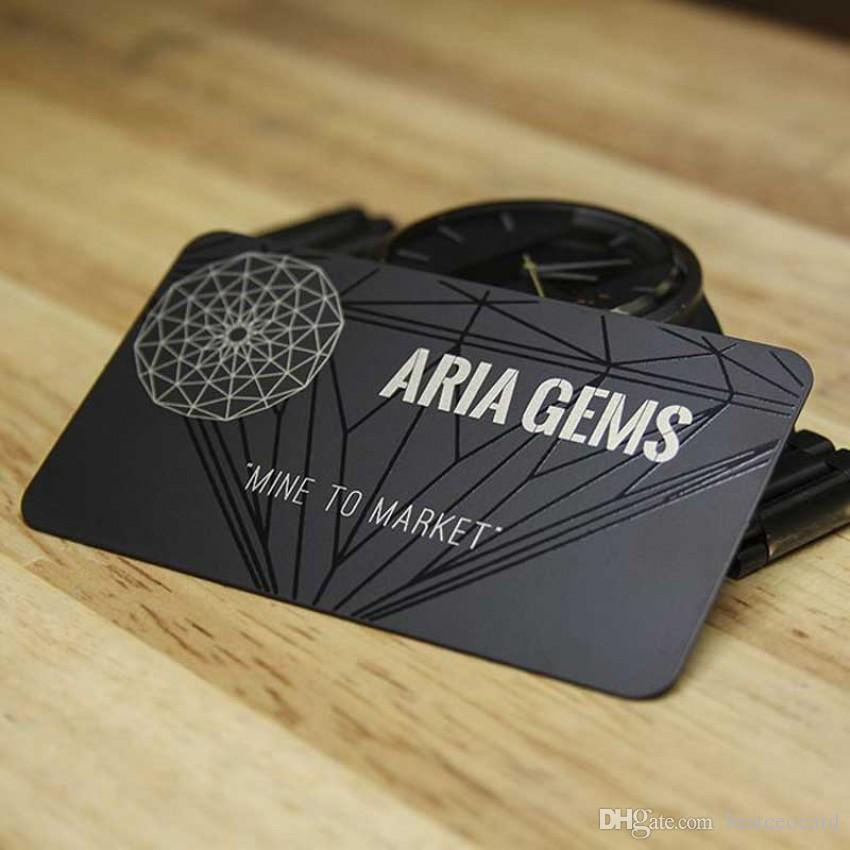 Acheter Carte De Visite Usine Or Bross Mat Cadeau En Mtal Noir Avec Uv