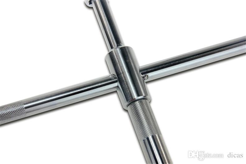 Darmowa wysyłka Kształt Cross Chowany Auto Opon Gniazdo Wrench Rating Oszczędność Key Spanner Zestaw narzędzi do naprawy opon 17-23mm
