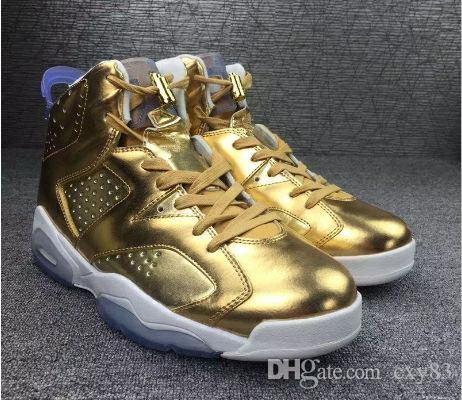 1453aa5ffd6 Hot Air Retro 6 VI Pinnacle Metallic Gold Spike Lee Men Women Basketball  Shoes Super AAA High Quality 5.5 12 Wholesale Basketball Shoes For Men Kids  ...