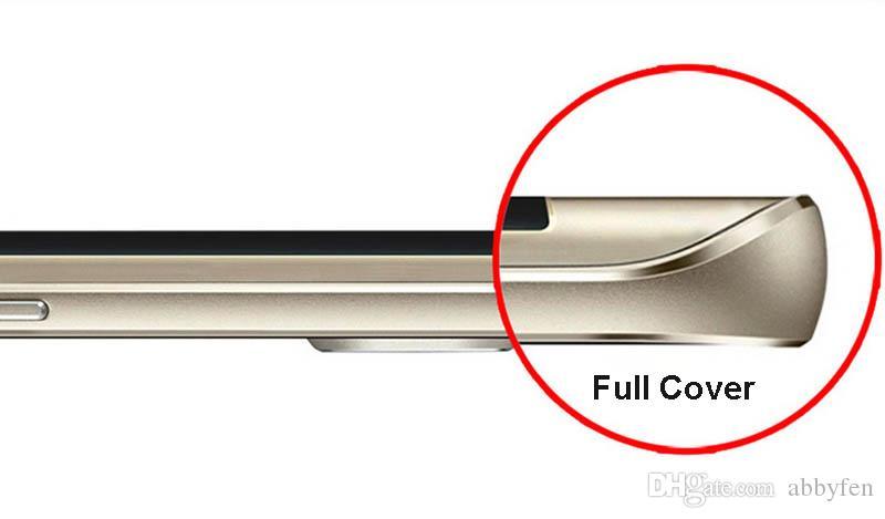 Protetor de tela do telefone da curva 3D da capa completa para Samsung Galaxy S10 S9 S8 Plus Note7 S7 Borda S6 0.3mm Vidro Temperado