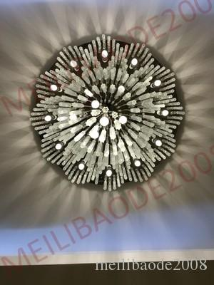 BE31 Factory Customized Round Hotel Lobby K9 Crystal Chandeliers Large Hotel Project Lights Department Villas Exhibition Hall Pendant Lamps
