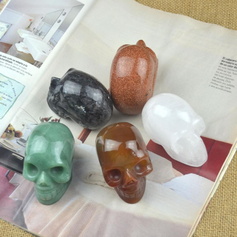 2017 natural crystal skull home decorations feng shui stone crafts