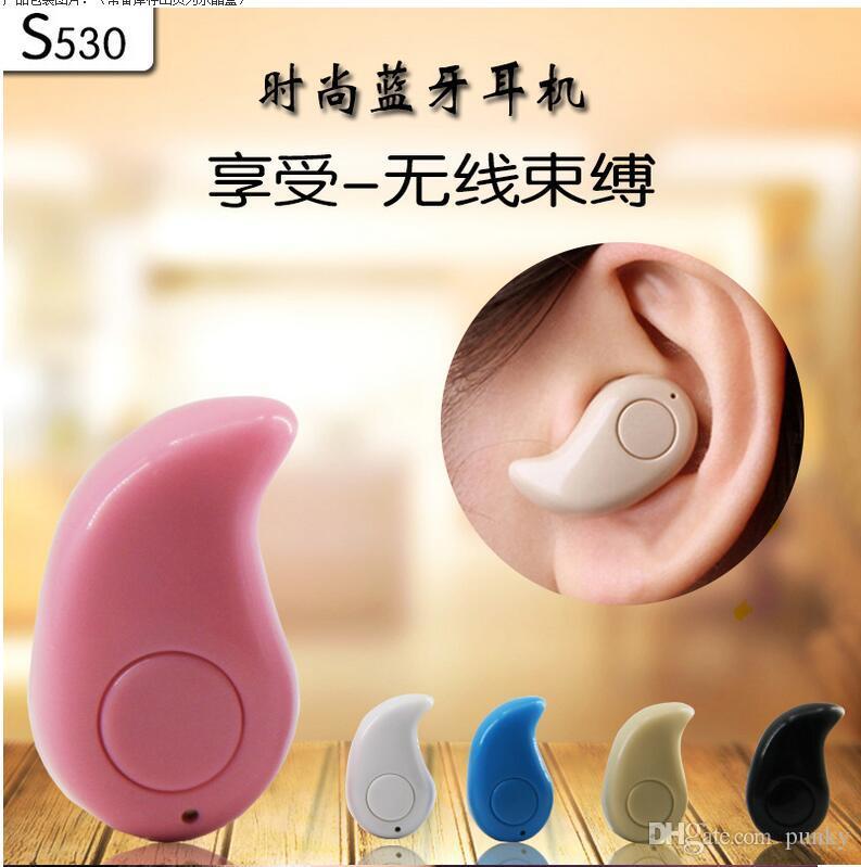 S530 super mini wireless earphone stereo bluetooth Headphone headset smallest In ear V4.0 Stealth earphone Earbud for cell phone