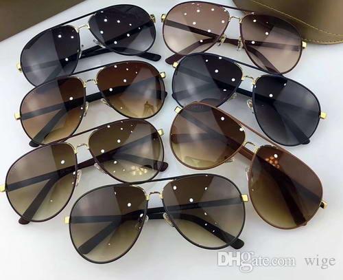 Fahion navy navy Sunglasses navy / Grey Lens Brand Óculos de sol New wit box