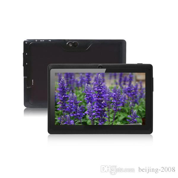 7inch AllWinner Q88 A33 Quad Core Android 4.4 Tablet 4 GB / 512 MB Doppia fotocamera phablet con tastiera USB Custodia tablet pc spedizione gratuita 002609