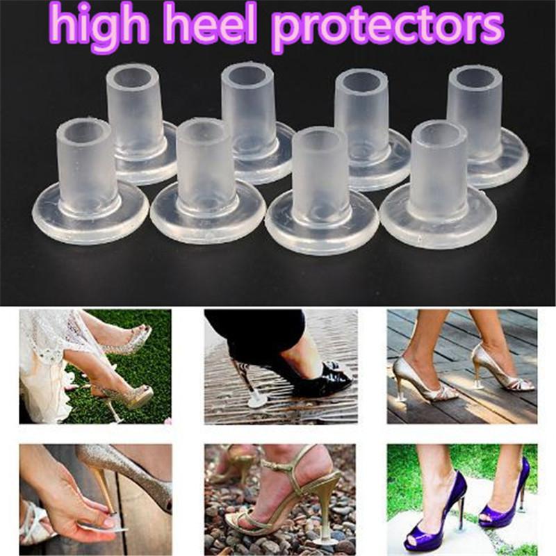 2 couleur haute protection de talon Caps Stiletto Danse Haute Couverture de Talon Stopper Antidérapant Silicone Protecteurs pour le Mariage et La Partie acc280