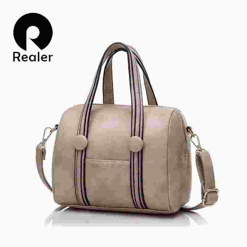 35b8ffc9439d Realer 2016 Women Bag Pu Leather Handbags Famous Brand Designer OL Style  Women Messenger Bags Tote Bolsa Femininas Clutch Purse Cross Body Purses  From ...