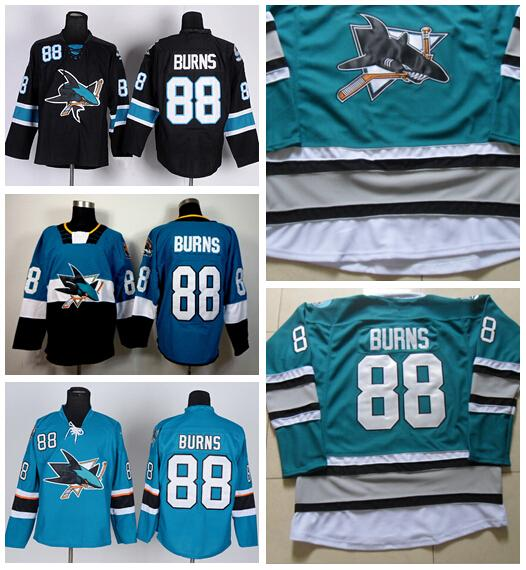 separation shoes ad468 d2775 san jose sharks 88 brent burns 2014 blue jersey