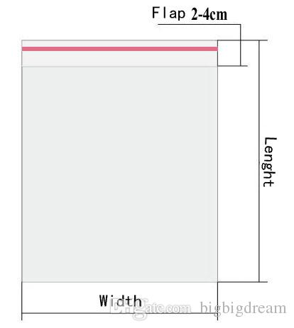 새로운 셀로판 가방 10x15cm 정품 또는 도매 + 무료 배송 더블에 대한 자체 접착 씰