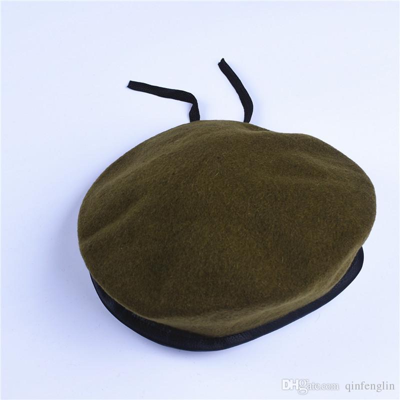 Homens e Mulheres Ao Ar Livre Respirável Bonés de Boina De Lã Pura Caps Forças Especiais Soldados Esquadros da Morte Acampamento Militar Chapéu de Treinamento