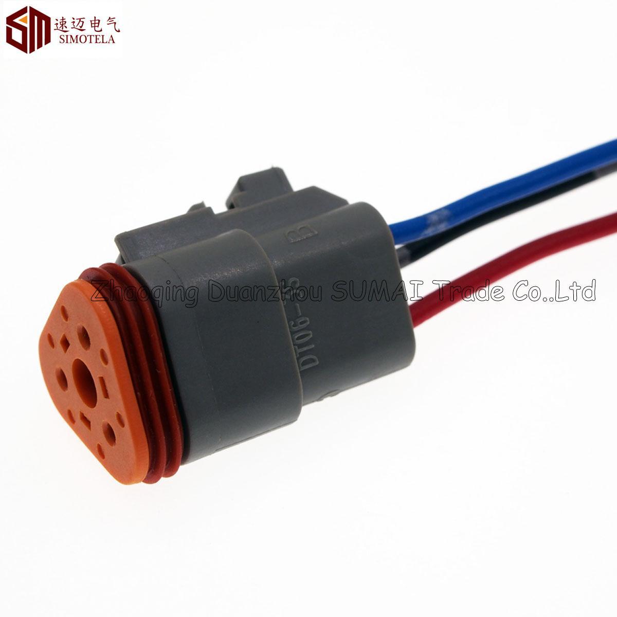 Gray Deutsch DT06-3S y DT04-3P 3Pin Conector eléctrico a prueba de agua del motor / caja de cambios para coche, autobús, camión, barcos