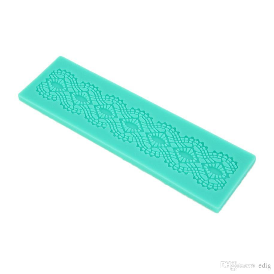 3D Silicone Fai da te Torta Fondente Stampo Fiore Stampo in pizzo Zucchero Cioccolato Artigianato Matrimonio Cottura Strumenti decorare