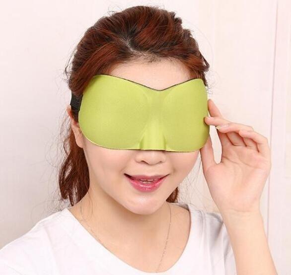 3D Portable Soft Travel Sleep Rest Aid Eye Mask Cover Eye Patch Sleeping Mask Case