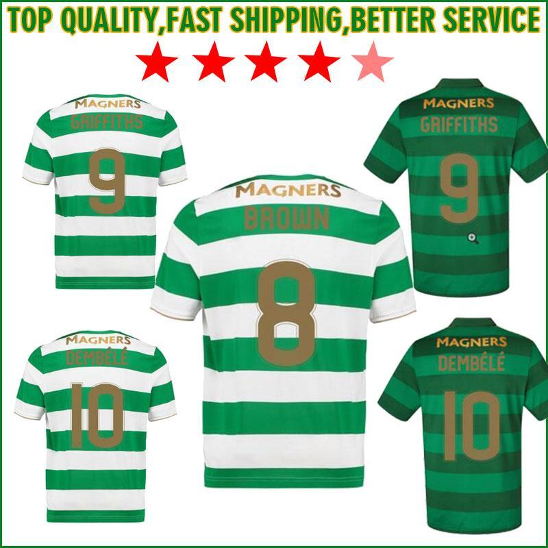 617ee9ecd 2019 2018 SINCLAIR Home Green White Soccer Jersey 17 18 DEMBELE Away Soccer  Shirt 2018 Customized BROWN GRIFFITHS Cheap Football Uniform From  Tectopjersey